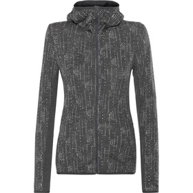 Icebreaker Away Showers LS Zip Hood Women jet hthr/snow